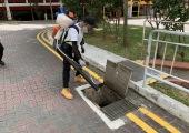 Bti treatment to drains
