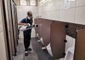 Application of Antimicrobial Coating at Kovan Hawker Centre Toilet
