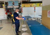 Application of Antimicrobial Coating at Kovan Hawker Centre